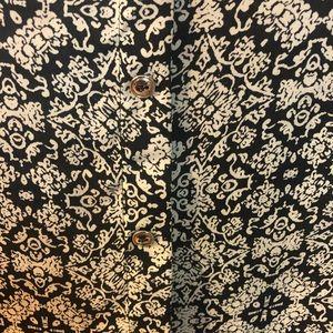 a'gaci Tops - Black & White Blouse